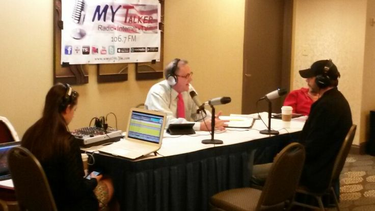 Curtis Wright broadcasting at the 2014 North Carolina Azalea Festival from the Hilton Riverside Hotel in Wilmington, NC.