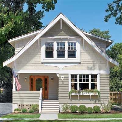 All about fiber cement siding craftsman style houses for Craftsman style window boxes