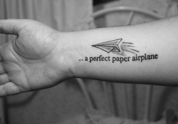 Cute Wrist Paper Airplane Tattoo for Women | Tattoos for Women