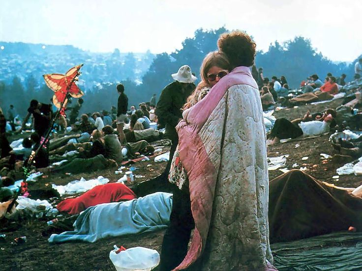 Nick and Bobbi Ercoline - the couple on the cover of the Woodstock movie and album.  They have been together since.