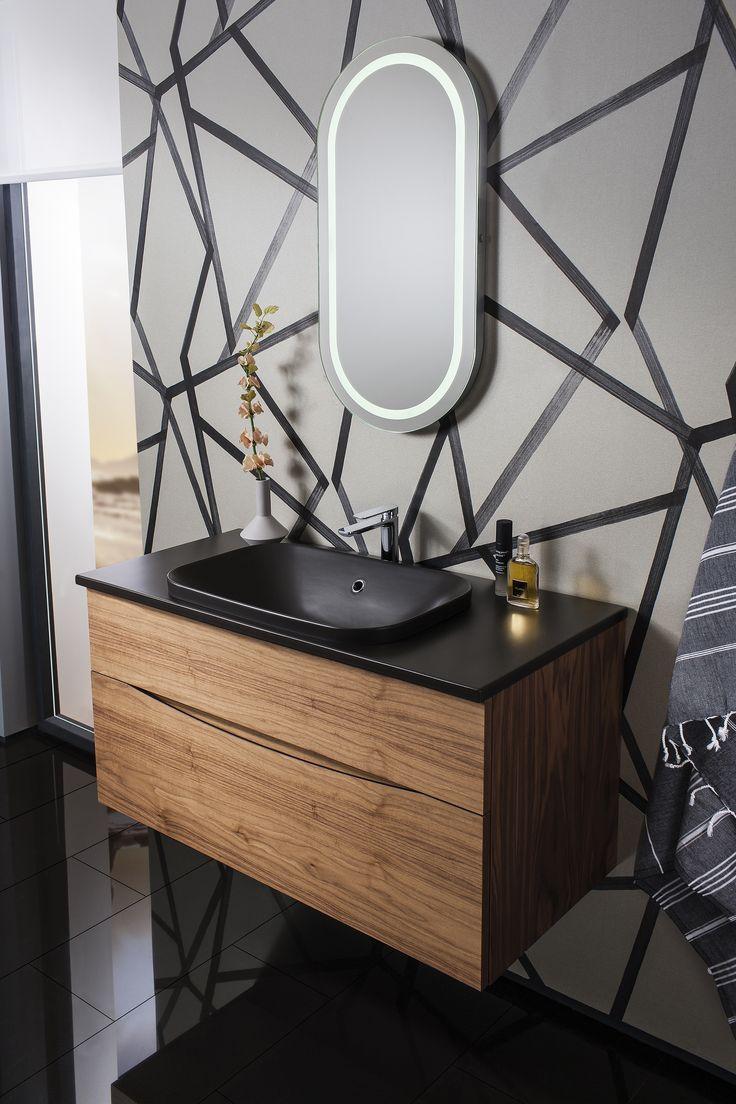 enduring design glide ii 100 unit u0026 pluston ceramic worktop u0026 black bathroom