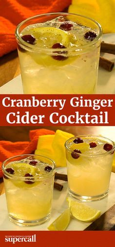 Fall flavors like apples and ginger are made from cocktails. This Cranberry Ginger Cider recipe combines those two classic autumnal staples with gin and fresh cranberries for a seasonal sipper that's bright and bubbly enough to melt away any cold weather blues.