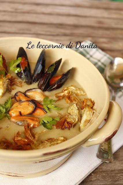 Le leccornie di Danita: Crema di carciofi e patate con cozze