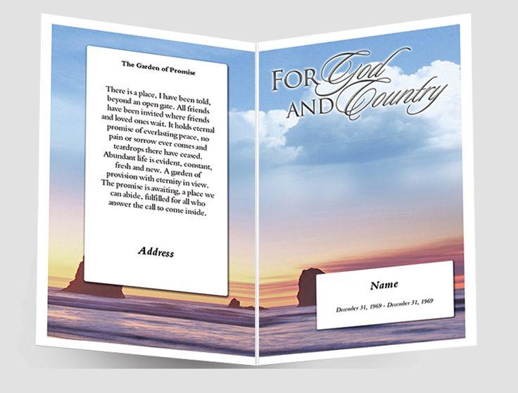 Mer enn 25 bra ideer om Funeral program template free på Pinterest - free funeral programs downloads