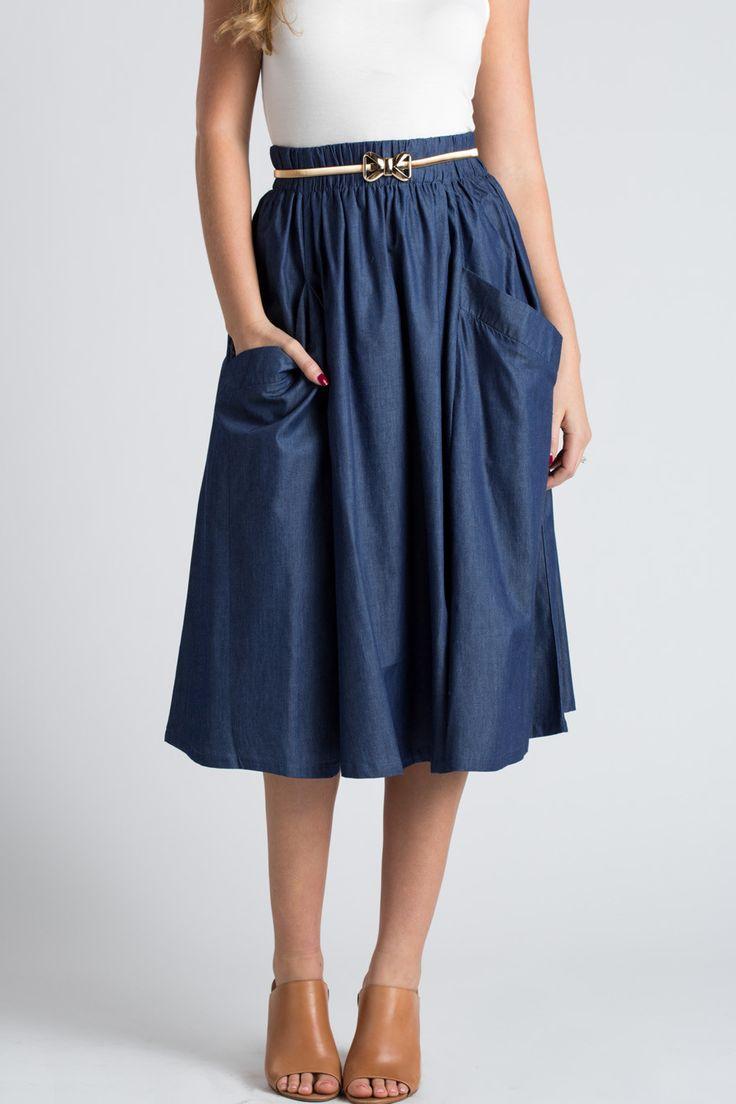 Best 25  Denim skirts for women ideas on Pinterest | Denim skirt ...