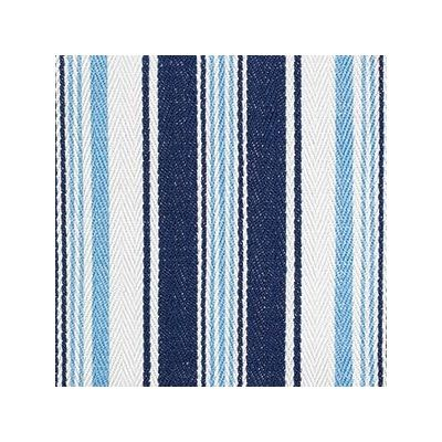 Deck Chair Stripe Denim Ivory - No Chintz