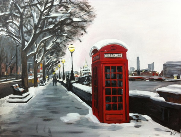 Angela Wakefield - Telephone Box, Victoria Embankment, London