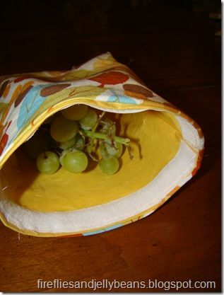 make these reusable snack bags where you use iron-on vinyl to turn any fabric into a waterproof, washable bag.