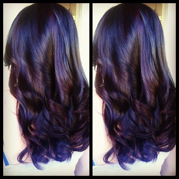 Dark Hair Color Ideas 2 Tone Hair With Long Layers Yes