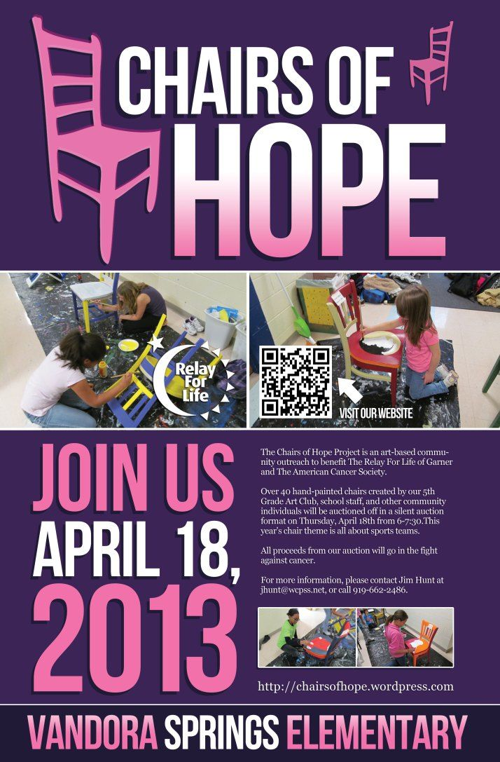 LA LA LA LOVE this idea! Letu0027s get an art teacher to do this with her class! chairs for hope themed painted chairs auctioned off for Relay.  sc 1 st  Pinterest & 439 best Relay for Life images on Pinterest | Relay for life ...
