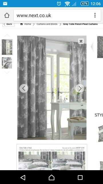 Next - love these curtains. Hung from ceiling?