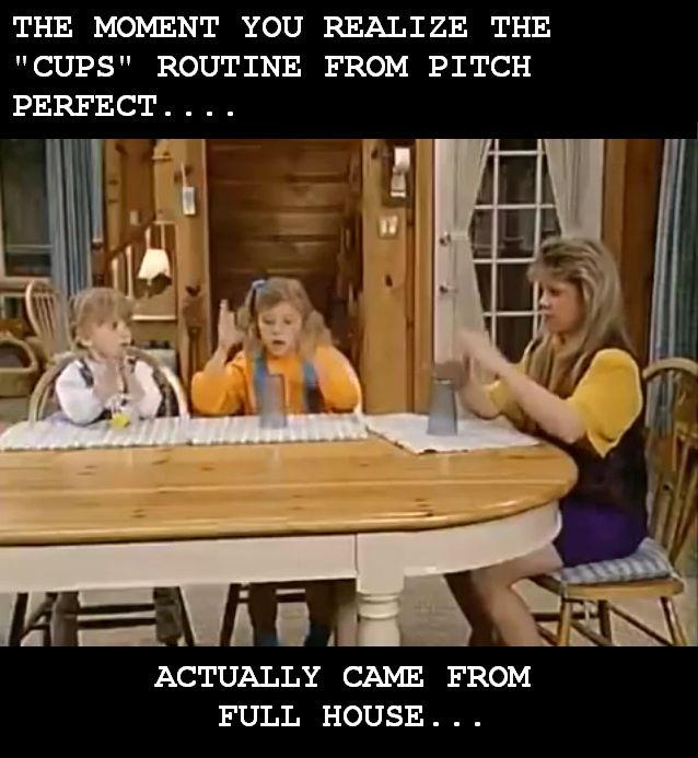 Seriously no one knew this!?!? I knew the cups routine BEFORE it was popular!!!