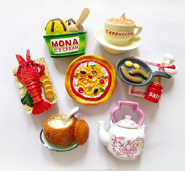 Find More Fridge Magnets Information about The ice cream lobster pizza bread cappuccino kettle creative resin refrigerator,High Quality resin deer,China resin button Suppliers, Cheap resin spray from Xiamen Tinpy Import & Export Co.,Ltd. on Aliexpress.com