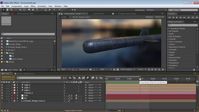 Element 3D: Environment Tips by Andrew Kramer. Create a custom Environment map and learn to control the background!