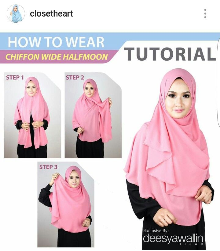 Chiffon Wide Halfmoon Tutorial