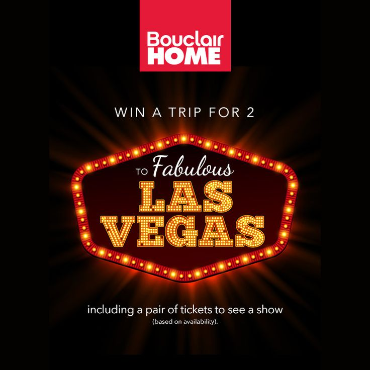 Win a six night stay for two in exciting Las Vegas. Refer someone to this contest and you'll receive a bonus entry! {{user.share_url}}