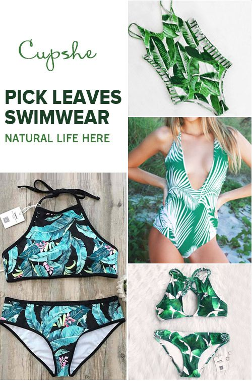 Live life on the beach~ Short Shipping Time & Easy Return + Refund! High quality & Better service! Pick leaves swimwear & give you natural life here!