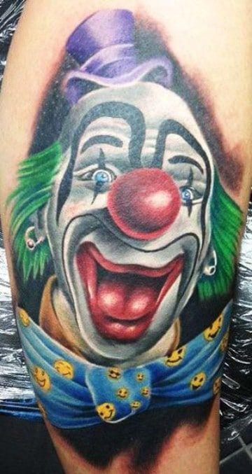 Grandes Detalles En Tatuajes De Payasos Tristes Y Alegres Tatuajes