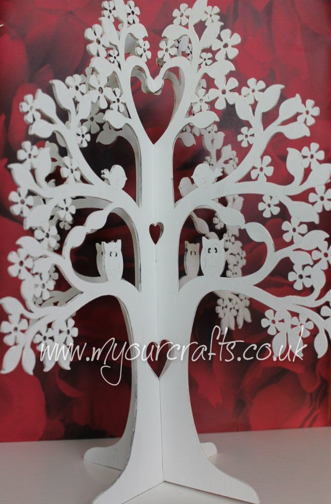 Wish.Tree.Jewelry.Stand.Wedding.Centerpiece.Christening.Guestbook.Decoration.MDF