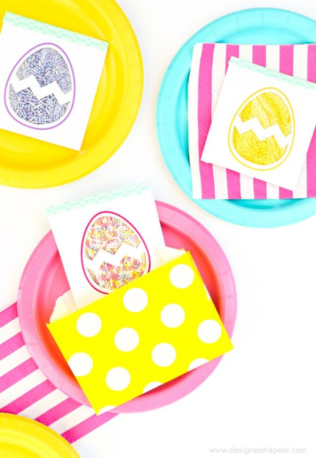 Easter Egg Printable Sprinkle Party Favors