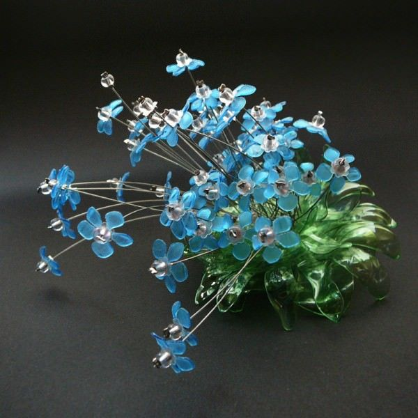 1360 best images about plastic bottle crafts on pinterest for Art made from plastic bottles