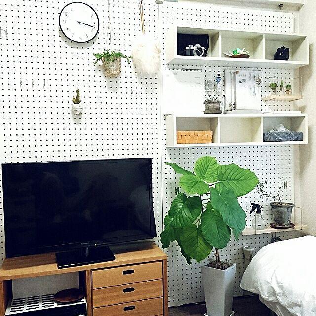 壁 天井 賃貸 有孔ボード 1k 壁に付けられる家具 などのインテリア
