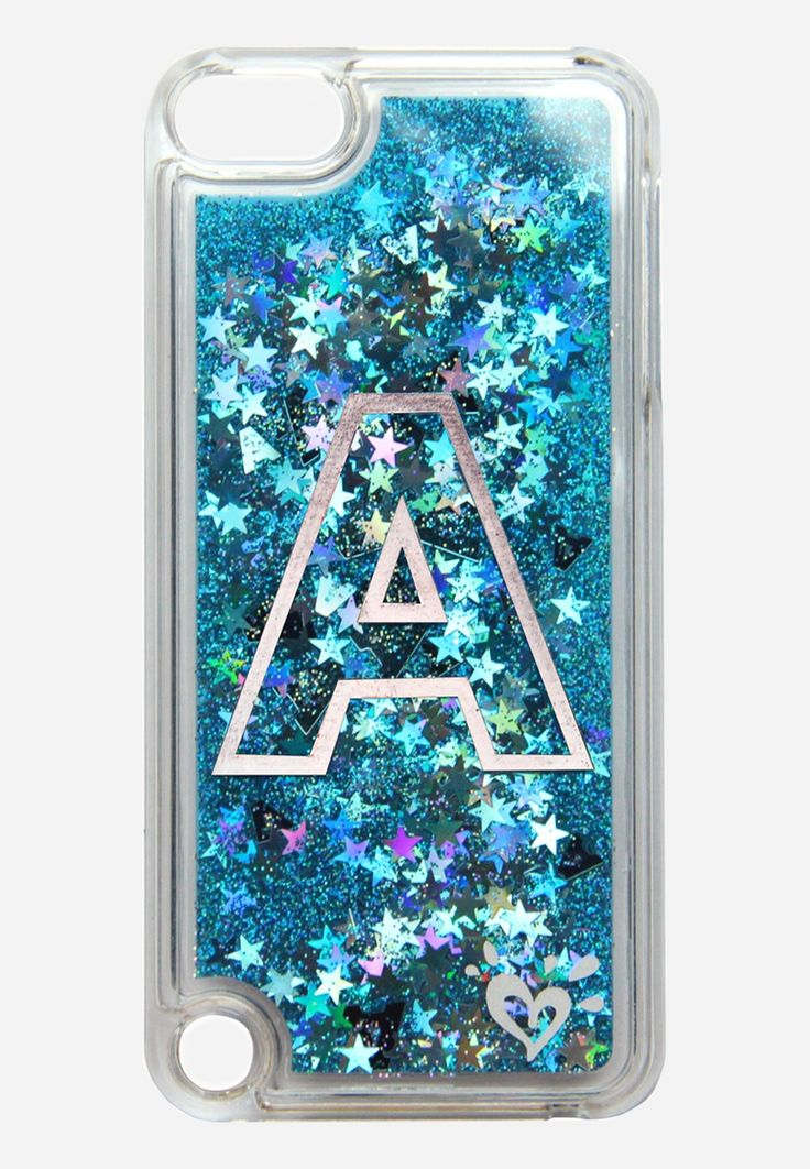 floating glitter initial case for ipod® touch Cute ipod