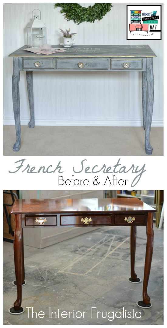 repurposed office furniture. French Secretary Desk Makeover Themed Furniture Day Repurposed Office