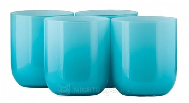 General Eclectic Glass Tumblers (4 Pack) - Turquoise