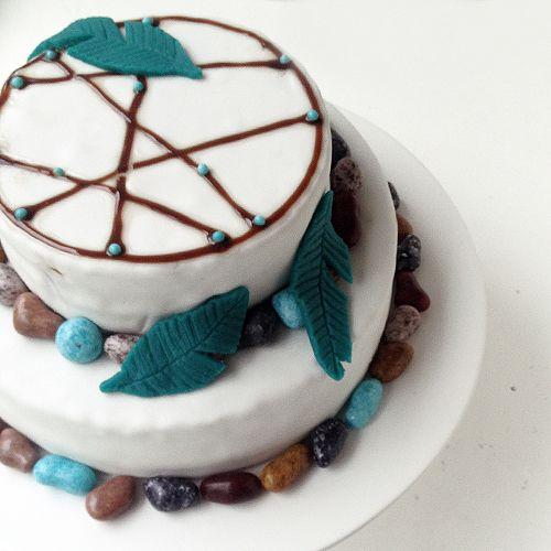 Kuchen für den Kindergeburtstag - Mottoparty Indianer