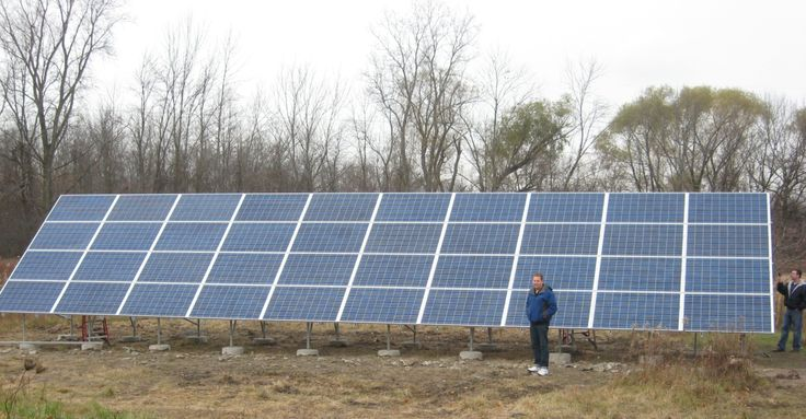 Chesterfield Twp Michigan Ground Mount Solar array www