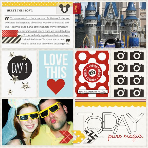 Disney Project Life page created by Teresa featuring Project Mouse by Sahlin Studio & Britt-ish Designs