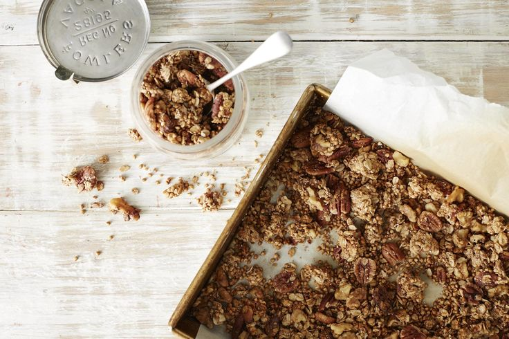 Serve granola with full-fat natural or Greek yoghurt if you fancy