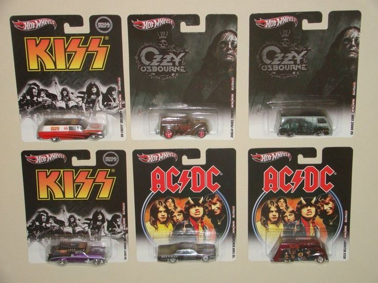 Hot Wheels Nostalgia Rock Series Rock Bands 6 Vehicles ...