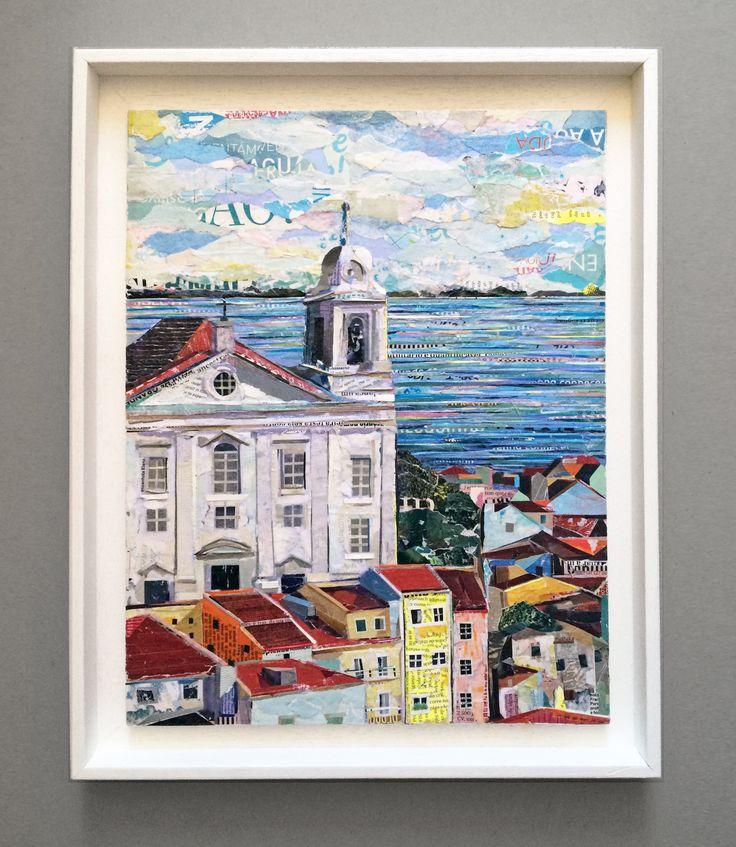 IGREJA DE Sto ESTEVÃO / LISBOA - ALFAMA 100% collage  /  paper on plywood /  30 x 40cm (framed 36 x 46cm) ©philippe patricio 2016  / all rights reserved