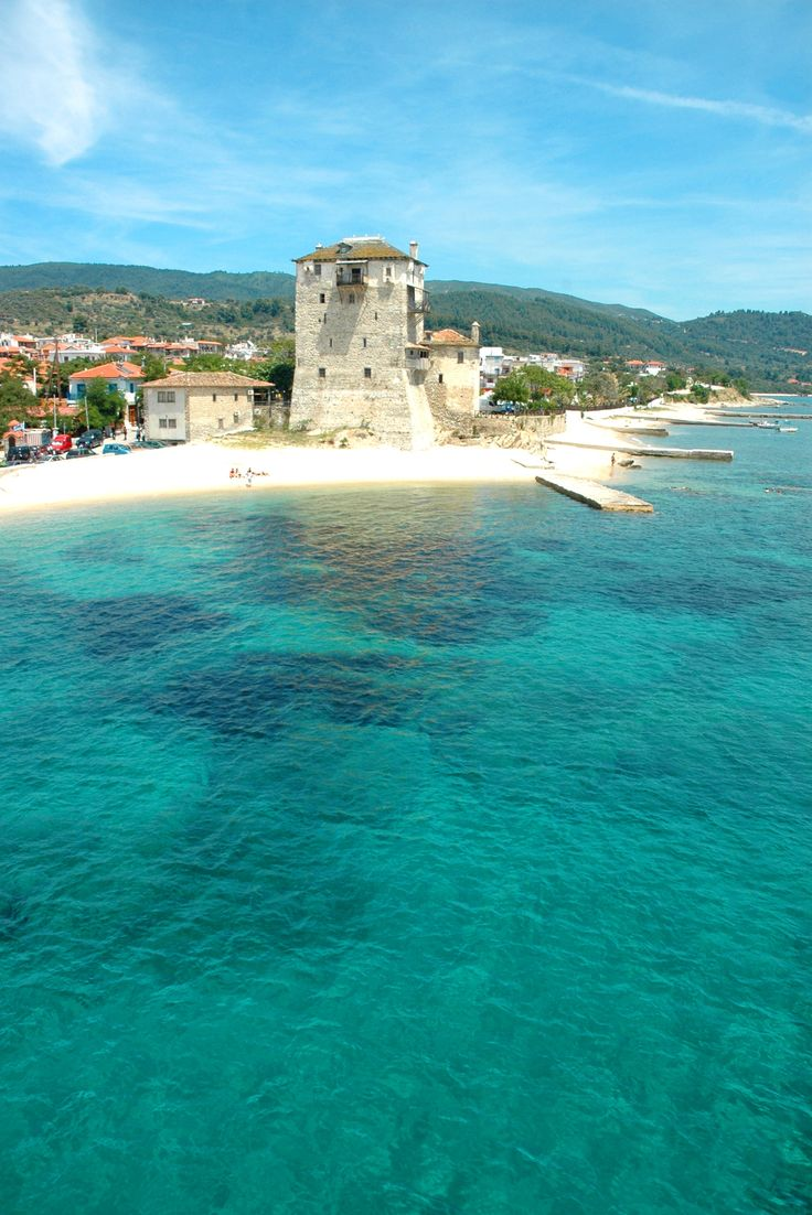 Prosforion Tower in Ouranoupolis, Halkidiki, Greece