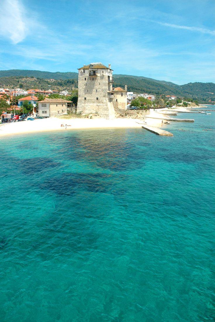 Prosforion Tower in Ouranoupolis, Halkidiki, Greece