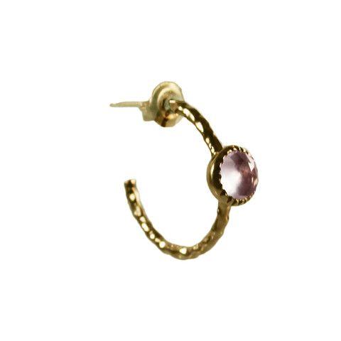 PINK QUARTZ & GOLD HOOP EARRINGS | Buy So Pretty Jewelry online
