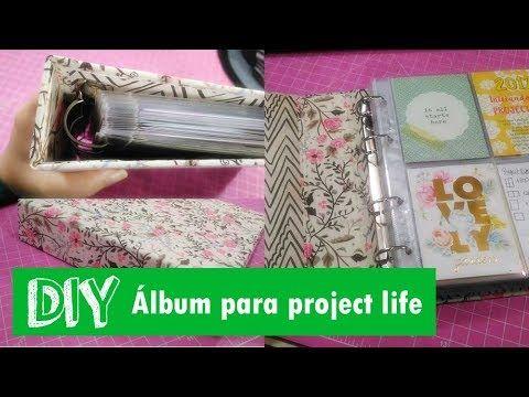 DIY - Como fazer um álbum de project life 6x8 - YouTube