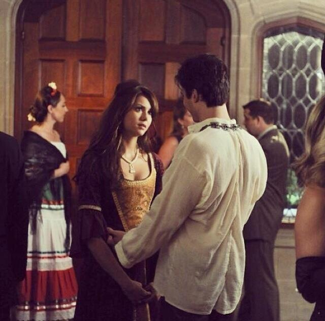 What episode do elena and damon start dating
