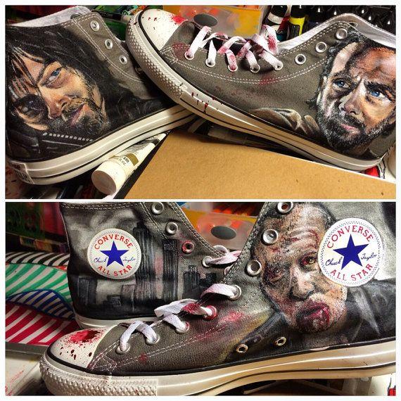 The Walking Dead Fan Converse All Star Custom by workofdaniel
