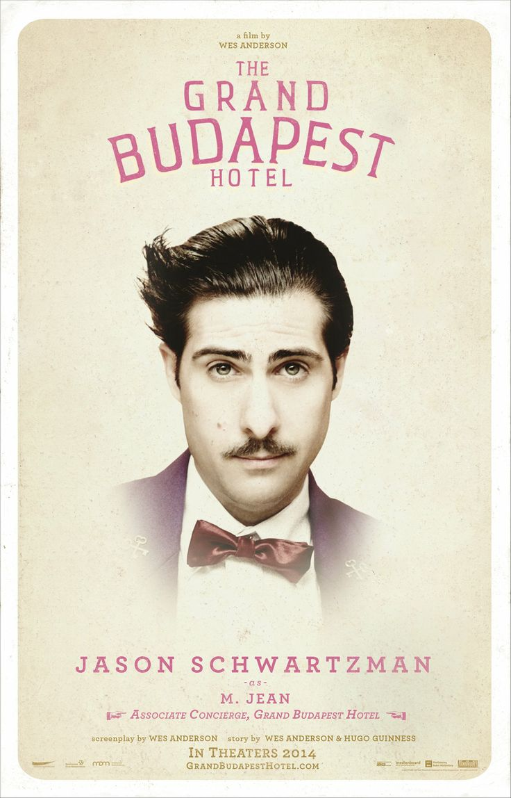 The Grand Budapest Hotel- Need to see this I've heard great things!