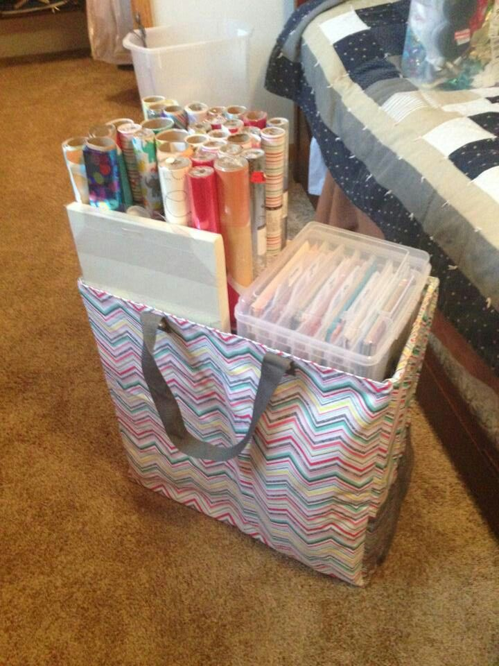 XL Room for Two Utility! I knew it was great for laundry (for separating lights and darks), but it's also perfect as a gift wrap station!! I need to do this after the holidays (if not before)!