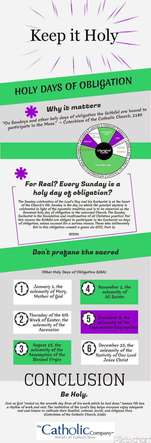 The Holy Days of Obligation for the Roman Catholic Church in the United States