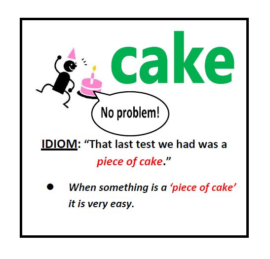 An analysis of the idiom piece of cake
