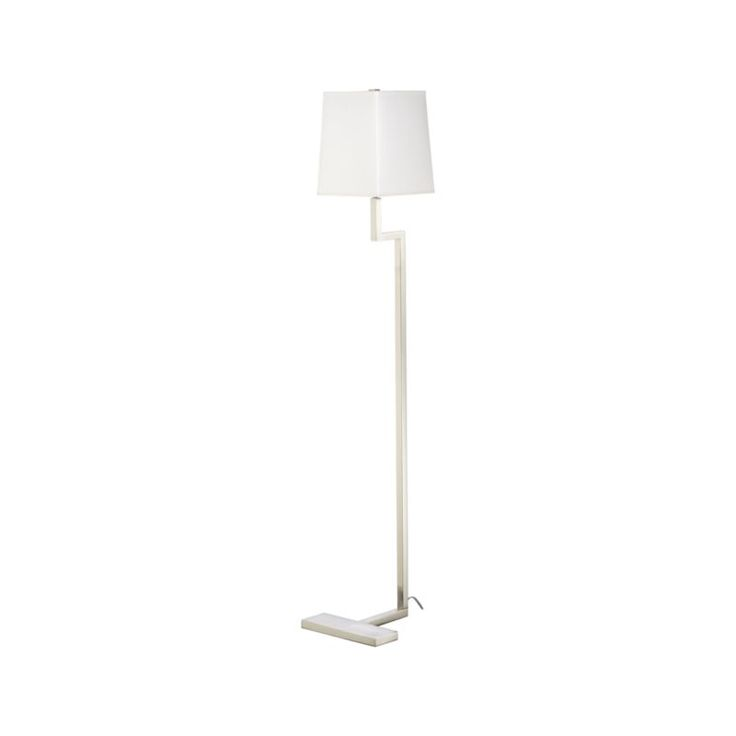 Clare Antiqued Silver Floor Lamp | Crate and Barrel