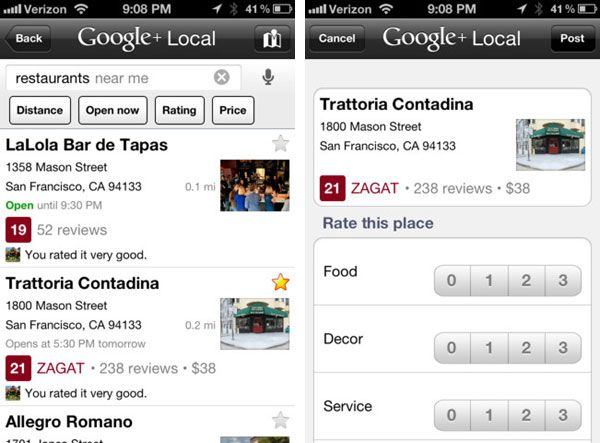 Google Places iOS App Becomes Google+ Local