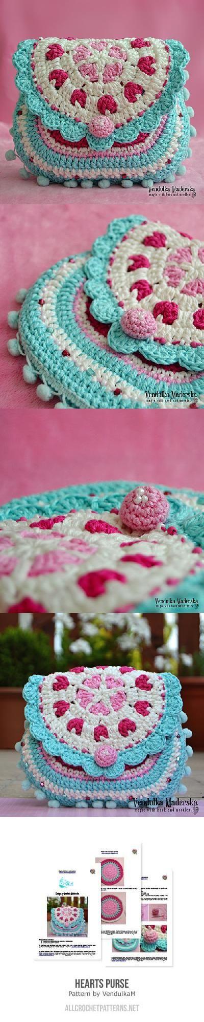 Hearts Purse Crochet Pattern