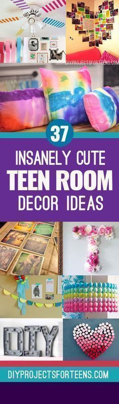 Cute DIY Room Decor Ideas for Teens - Best DIY Room Decor Ideas from Pinterest Youtube and Top DIY Blogs. Awesome Ideas for Teen Girls Bedrooms Furniture Accessories and Wall Art for Tweens and Teenagers #BeddingIdeasForTeenGirls