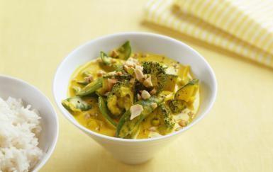 Green vegetables in coconut milk - Luzia Ellert/StockFood Creative/Getty Images